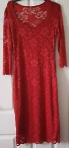 BNWT JOE BROWN'S RED  FULLY LINED DRESS SIZE UK 10
