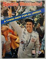 Al Unser Jr Hand Signed Autographed Sports Illustrated Magazine Indy PSA/DNA