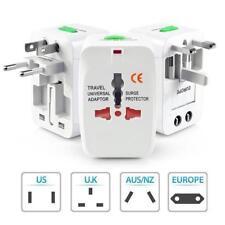 AC 110V-250V 6A US EU AU UK Power Plug World Travel Wall Adapter Converter Led