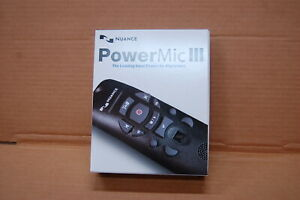 Nuance PowerMic III Microphone - 9 ft. Cord 0POWM3N9 Dictate New Unused