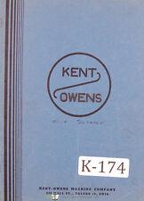 Kent Owens 2-20, Milling Machine Parts Manual