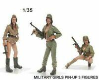 1/35 Resin Figure Model Kit Modern 3 Girls Pin-Up Sexy WW2 Unassambled Unpainted