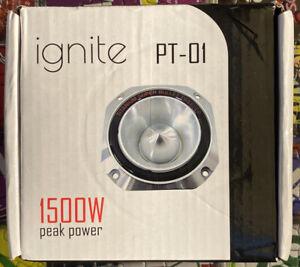 """Ignite Pro PT-01, Titanium 4"""" Bullet Super Tweeter - 3000W Peak"""