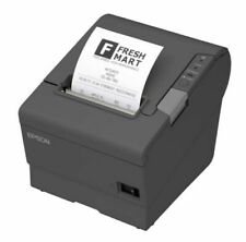 Epson C31CA85082 180 DPI Black and White Receipt Thermal Printer - Dark Grey