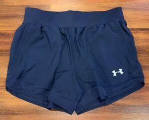 NEW Under Armour UA Locker Woven Short Navy Blue Pockets 1351232 Women's Small S