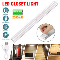 Portable LED Motion Sensor Closet Light Night Magnetic Strip Lamp Cabinet Indoor