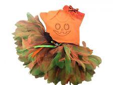 Baby Toddler Tutu Skirt Rhinestone Pumpkin Top Halloween Fancy Dress Costume