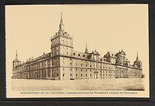 2966.-MADRID -MONASTERIO DE EL ESCORIAL -Fachada principal del Monasterio y ángu