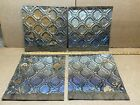 """4 pc Lot 12"""" x 12"""" Antique Ceiling Tin Metal Reclaimed Salvage Art Craft"""