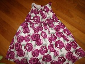 JANIE AND JACK Size 4 DRESS MINT SPECIAL PLUM PERFECT SPECIAL OCCASION ROSES EUC
