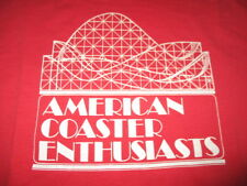 AMERICAN COASTERS ENTHUSIASTS Roller Coasters (2XL) T-Shirt RED