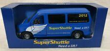 2012 Super Shuttle Ford Econoline Diecast - Blue Transport Van NEW NIB