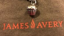 Adorable JAMES AVERY Sterling Silver 925 3D Cupcake Pendant Charm