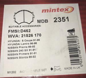 MDB2553 NEW MINTEX FRONT DISC BRAKE PADS SET