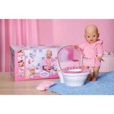 ZAPF CREATION Baby Born Puppe + Toilette + Bademantel + Windel NEU & OVP