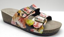 Chinese Laundry Pink Floral Platform Sandals Mule Wedges 39 8.5 NEW MSRP $89.