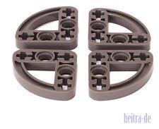 LEGO Technik - 4 x Liftarm viertel - oval 3x3 dunkelgrau / 32249 NEUWARE