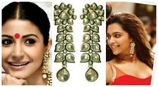 Ethnic Earrings Antique Gold Plated Kundan Jewelry Wedding Collection Chandbali