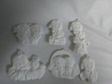 FREE SHIPPING Christmas Lamb Ornaments set of 6 Ceramic Bisque, Ready To Paint