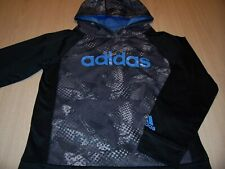 ADIDAS LONG SLEEVE BLACK/GRAY HOODIE BOYS MEDIUM 10-12 EXCELLENT CONDITION