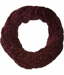 Free People Womens Love Bug Infinity Scarf Wrap, Red, One Size