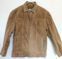 M Julian Wilson Leather Suede Jacket Zipper Bomber Type Brown Men's Large