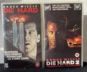 Die Hard & Die Hard 2 VHS Video Tape Vintage 1996 Action Movie