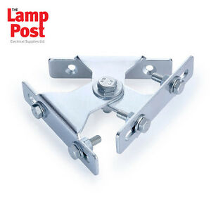 Twin Floodlight Adjustable Wall Bracket For Two Lights - KRP2