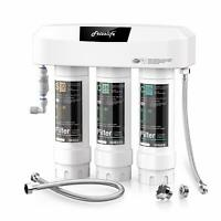 Frizzlife 3-Stage Under Sink Water Filter System SK99-NEW,Certified,0.5 Micron
