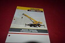 Grove RT600E Series Rough Terrain Hydraulic Crane Dealer's Brochure DCPA6