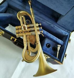 Customized Matt Gold C Trumpet Professional flumpet horn High grade Case