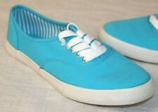 Forever 21 Womens Size 5 Turquoise Canvas Sneakers Tennis/Boat Shoes