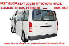 GREY VELOUR SEAT COVER FIT TOYOTA HIACE,COMMUTER BUS 14 SEATER   2005 - 2014