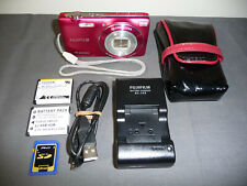 Fujifilm Finepix JZ100 14MP HD Movie Digital Camera PINK-RED