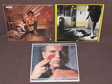 BERNARD LAVILLIERS 3 LP RECORD ALBUMS LOT COLLECTION Voleur/Nuit d'amour/Gringo