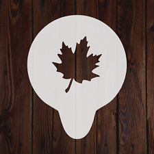 Maple leaf mylar stencil flavour tree flexible cake baking decorating painting