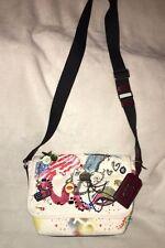 Marc Jacobs Embellished Collage Canvas Messenger / Shoulder / XBody Bag
