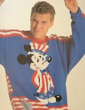 Disney Stars And Stripes Mickey Mouse Jumper ( Adult)  Knitting Pattern