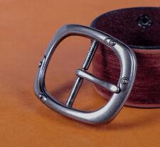 Heavy Wide Silver Center Bar Replacement Men's Belt Buckle Fits 40mm Belts Strap