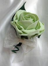 Buttonhole, single pistachio rose,  Wedding Flowers