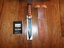U.S MILITARY ARMY KA-BAR KNIFE & SHEATH KABAR ARMY COMBAT KNIFE