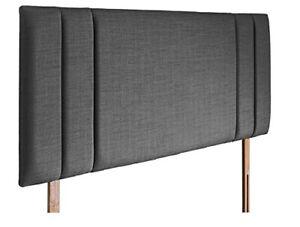 "Beautiful New Side Bar Headboard in Linen/Turin Fabric in 20'' & 26"" Height"