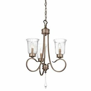 KICHLER LIGHTING 43237BRSG MALINA 3-LIGHT MINI CHANDELIER BRUSHED SILVER & GOLD
