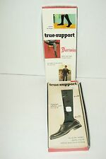 Vintage 60S Darwin Men'S True-Support Stockings - Original Pkg.-Nylon-Sz.11-New!