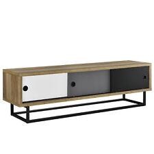 B-WARE Lowboard mit Schiebetüren Fernsehtisch Kommode TV Schrank Sideboard