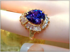 14 K ITALIAN GOLD OVER ALIXANDRITE GEMSTONE HAND CRAFTED LADY'S RING SIZE 6.5