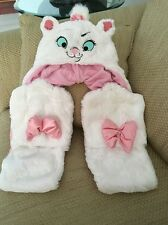 NWT DISNEY PARKS ARISTOCATS MARIE PLUSH HAT WITH SCARF HAND WARMERS BOWS CAT