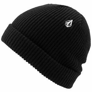 Volcom Sweep Beanie Knitted Hat Beanie Winter Hat Winter Sports Woolly Hat Black