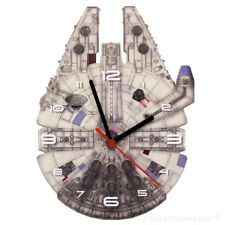 MILLENIUM FALCON - Bedroom Wall Clock - star wars fan art childrens boys gift