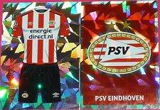 PSV1 PSV2 PSV Eindhoven kit & badge 2016/2017 Topps Champions League Stickers